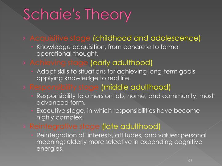 Schaie's Theory