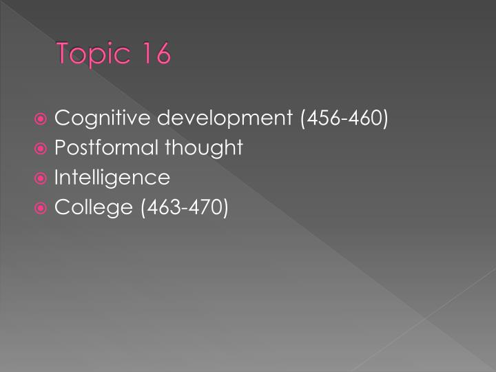 Topic 16