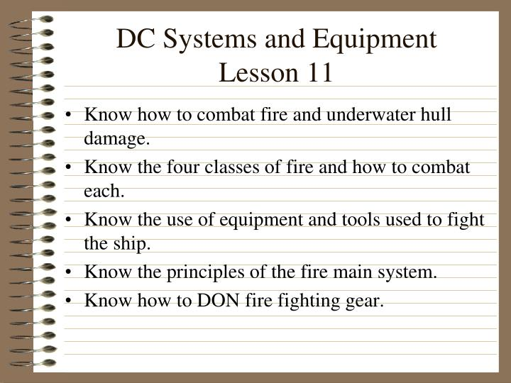 DC Systems and Equipment