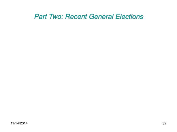 Part Two: Recent General Elections