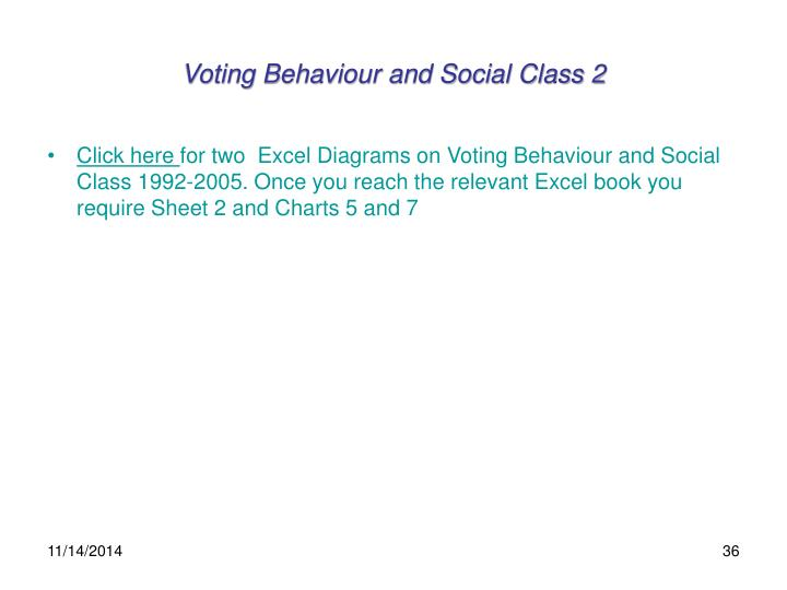 Voting Behaviour and Social Class 2