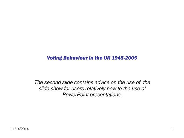 Voting behaviour in the uk 1945 2005