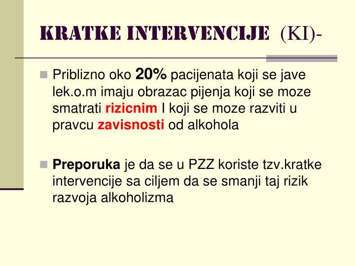 Kratke intervencije