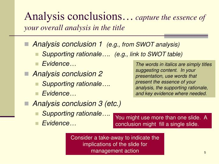 Analysis conclusions…