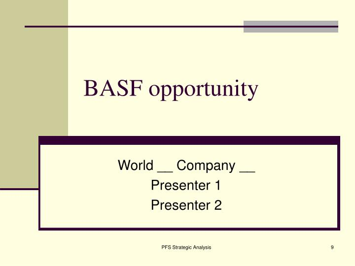 BASF opportunity
