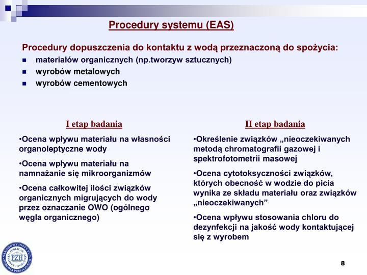 Procedury systemu (EAS)
