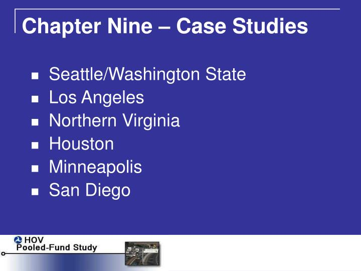 Chapter Nine – Case Studies