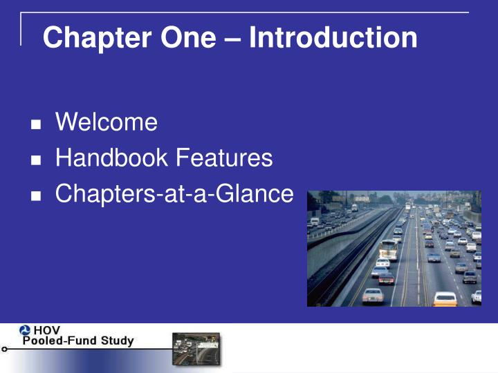Chapter One – Introduction