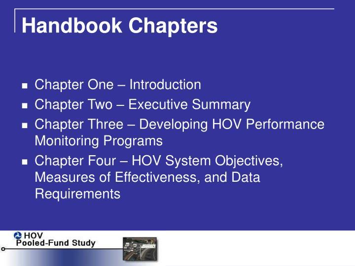 Handbook Chapters