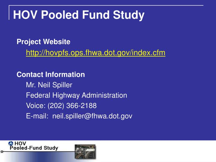 HOV Pooled Fund Study