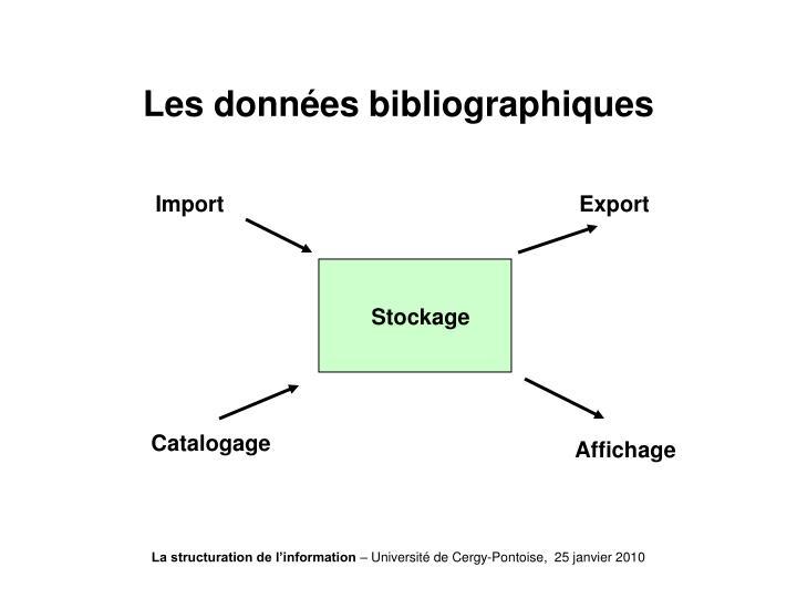Les données bibliographiques