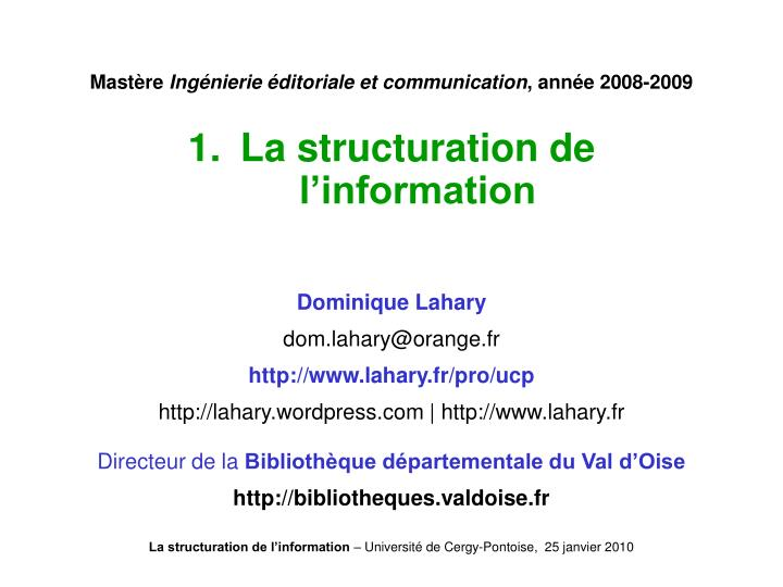 Mast re ing nierie ditoriale et communication ann e 2008 2009