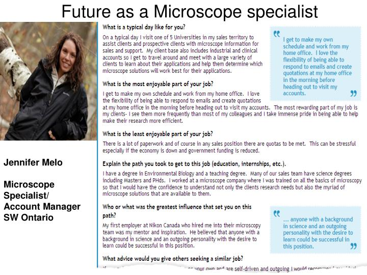 Future as a Microscope specialist