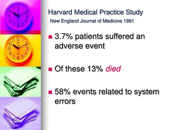 Harvard medical practice study new england journal of medicine 1991