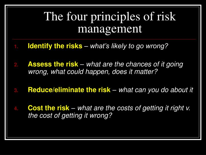 The four principles of risk management