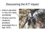 discovering the k t impact