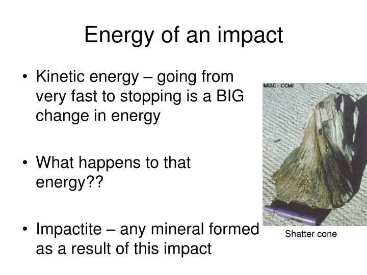 Energy of an impact