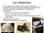 iron meteorites