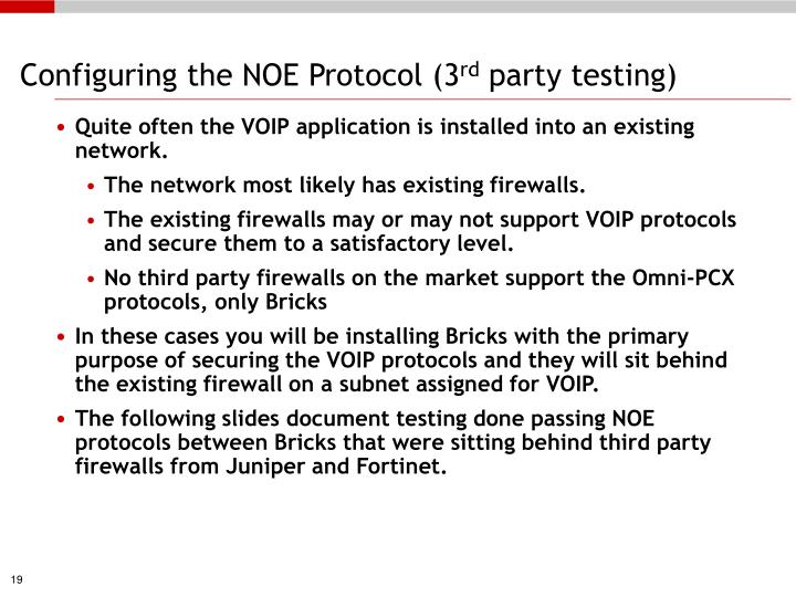 Configuring the NOE Protocol (3