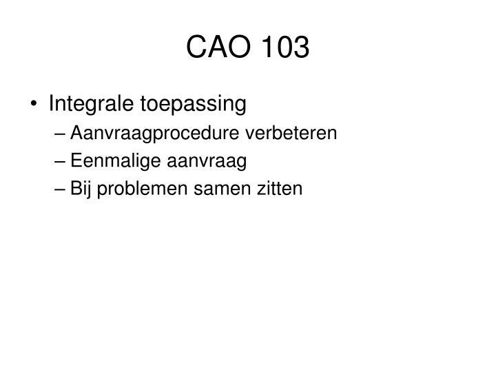 CAO 103