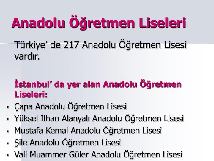 Anadolu retmen Liseleri