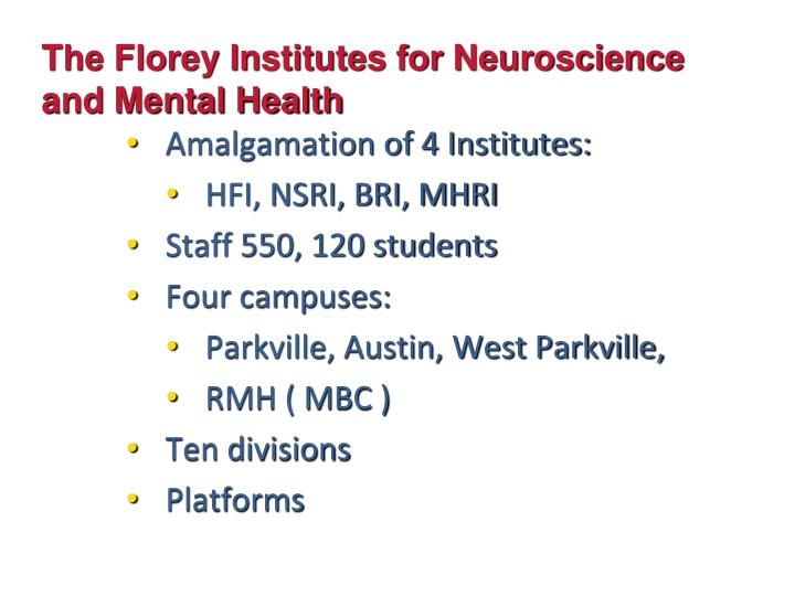 The Florey Institutes for Neuroscience and Mental Health
