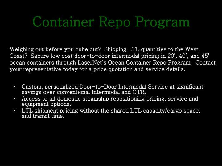 Container Repo Program
