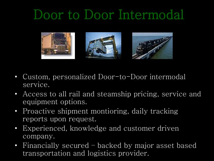 Door to Door Intermodal