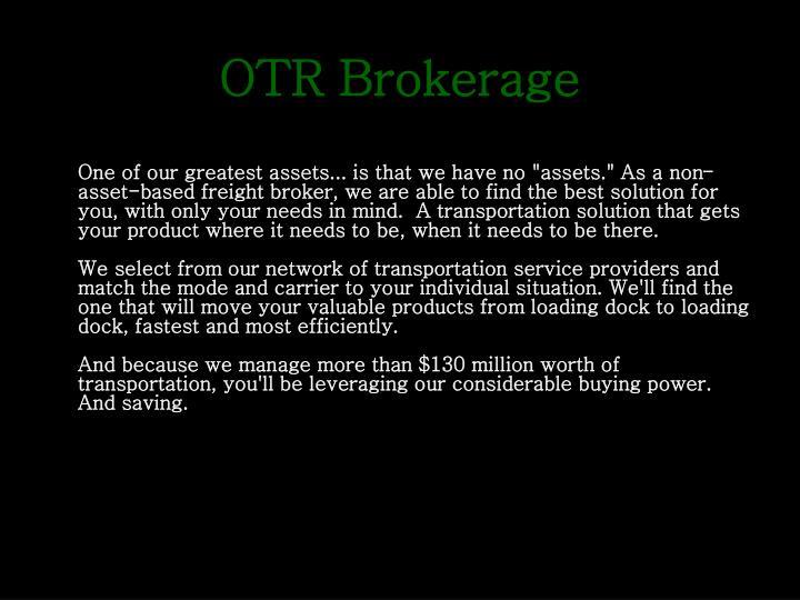 OTR Brokerage