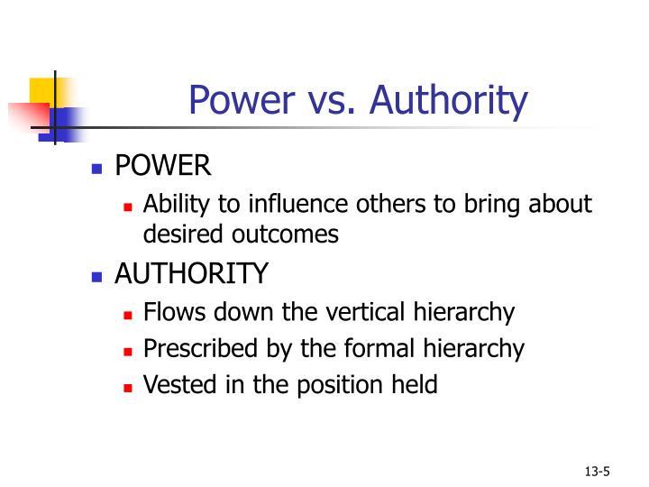 Power vs. Authority