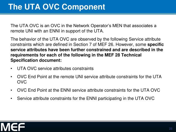 The UTA OVC Component