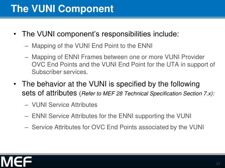 The VUNI Component