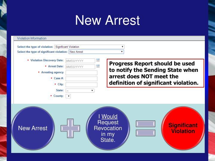 New Arrest
