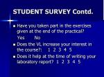student survey contd2