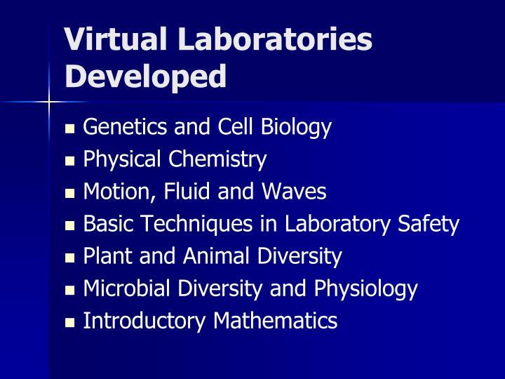 Virtual Laboratories Developed