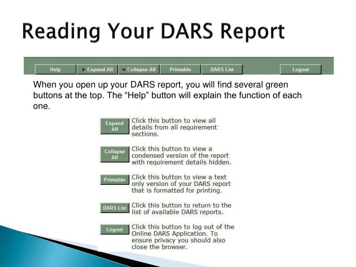 Reading Your DARS Report