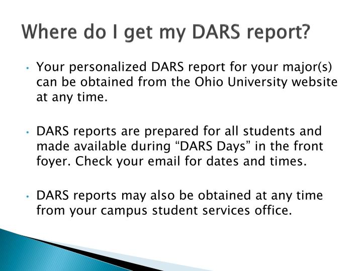 Where do I get my DARS report?