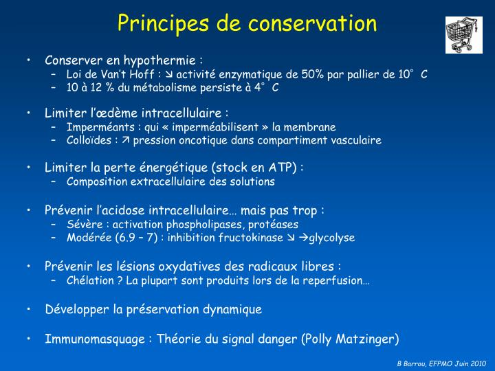 Principes de conservation