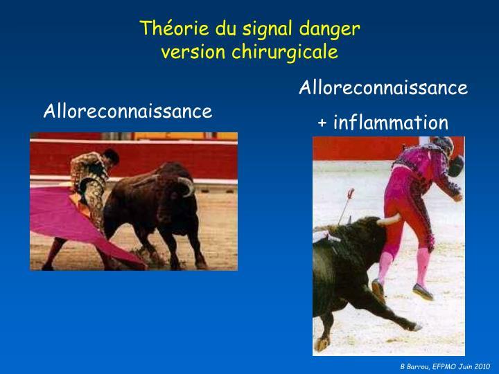 Théorie du signal danger