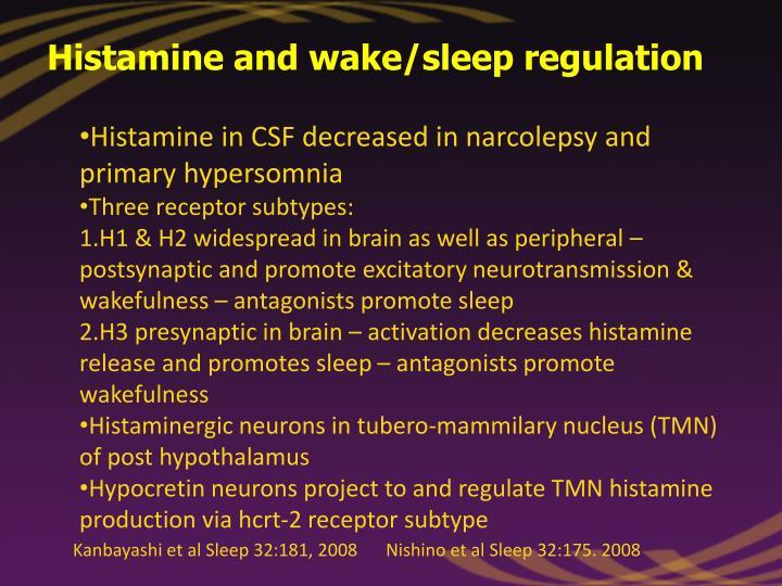 Histamine and wake/sleep regulation
