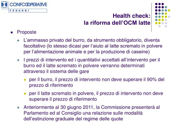 Health check: