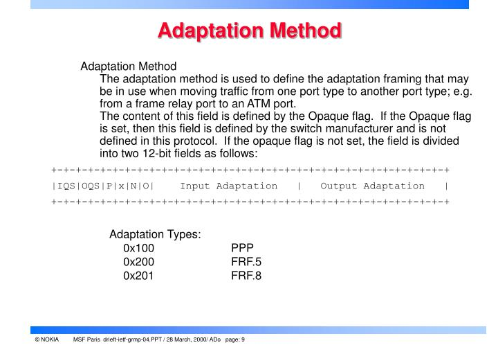 Adaptation Method