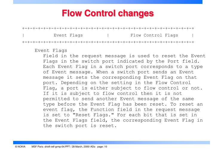 Flow Control changes