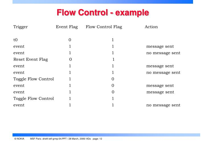 Flow Control - example