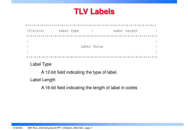 TLV Labels