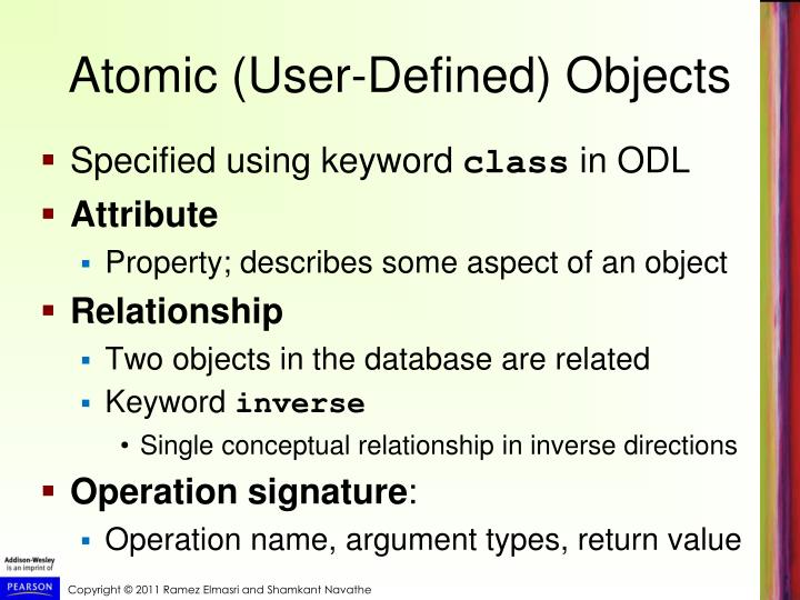 Atomic (User-Defined) Objects