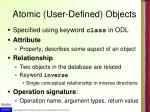 atomic user defined objects