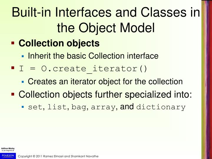 Built-in Interfaces and Classes in the Object Model