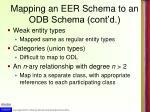 mapping an eer schema to an odb schema cont d