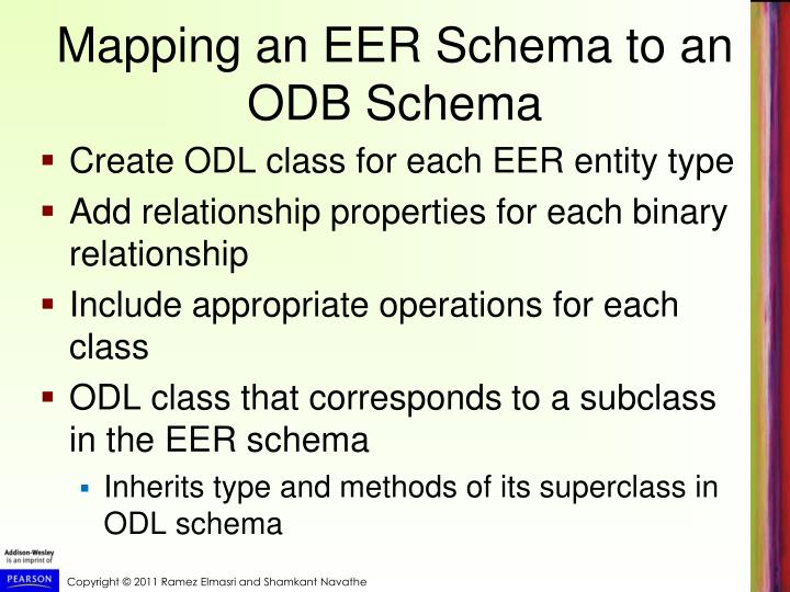 Mapping an EER Schema to an ODB Schema